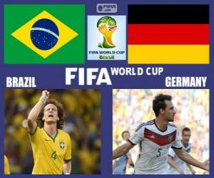 Puzzle de Brasil - Alemania , semifinales, Brasil 2014