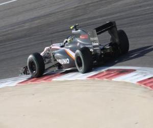 Puzzle de Bruno Senna - HRT - Bahrain 2010