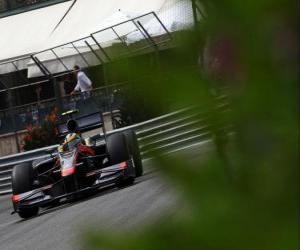 Puzzle de Bruno Senna- HRT - Monte-Carlo 2010
