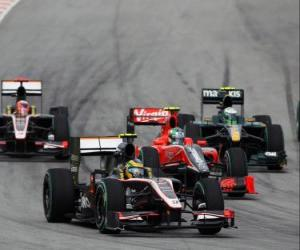 Puzzle de Bruno Senna - HRT - Sepang 2010