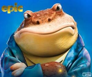 Puzzle de Bufo, una rana que es un hombre de negocios en el mundo secreto