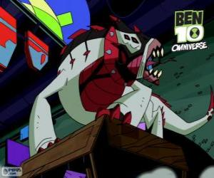 Puzzle de Buglizard es un alien del Nemetrix, Ben 10 Omniverse