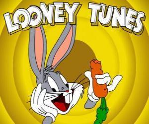 Puzzle de Bugs Bunny, el conejo protagonista de las aventuras de Looney Tunes