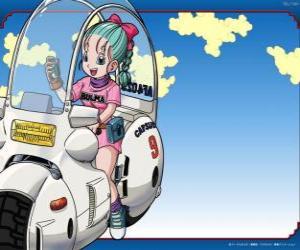 Puzzle de Bulma con su moto