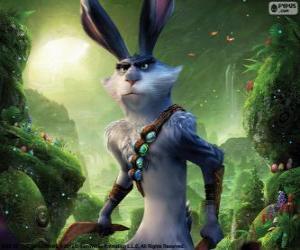 Puzzle de Bunny, el conejo de Pascua. Personaje de El Origen de los Guardianes