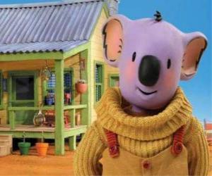 Puzzle de Buster es uno de los hermanos koala que viven divertidas aventuras en el desierto australiano, Los Hermanos Koala