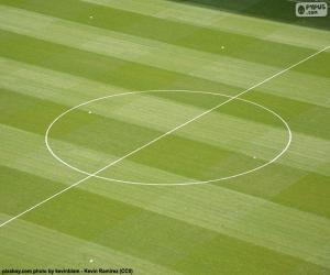Puzzle de Círculo central de un campo de fútbol
