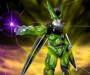 Puzzle de Célula, la creación final de Doctor Gero. Una forma de vida artificial creada usando las células de Goku y otros personajes