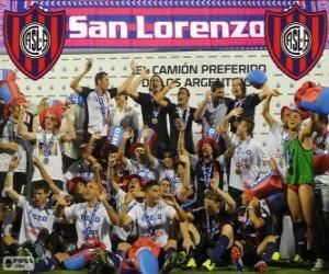 Puzzle de CA San Lorenzo de Almagro, Campeón del Torneo Inicial 2013, Argentina