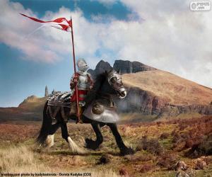 Puzzle de Caballero a caballo