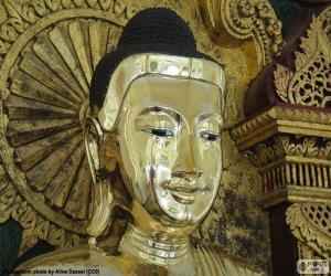 Puzzle de Cabeza Buda de oro