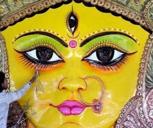 Puzzle de Cabeza de la diosa Durga, uno de los aspectos de Párvati