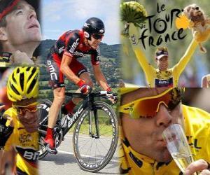 Puzzle de Cadel Evans campeón, del Tour de Francia 2011