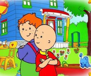 Puzzle de Caillou con su amigo Leo