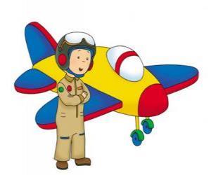 Puzzle de Caillou el aviador