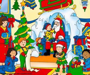 Puzzle de Caillou en Navidad