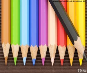 Puzzle de Caja de lápices de colores