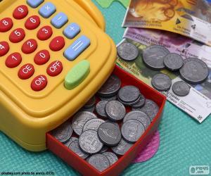 Puzzle de Caja registradora de juguete