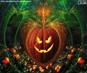Puzzle de Calabaza típica Halloween