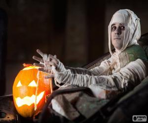 Puzzle de Calabaza y momia, Halloween
