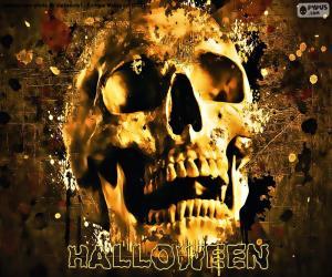 Puzzle de Calavera de Halloween