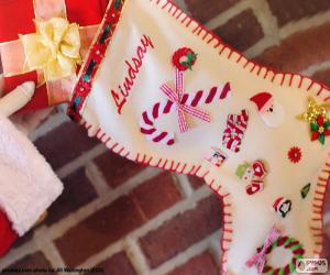 Puzzle de Calcetín Navideño y regalo
