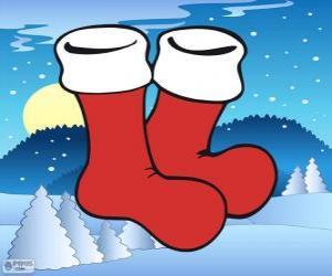 Puzzle de Calcetines de Papá Noel