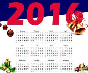 Puzzle de Calendario 2016