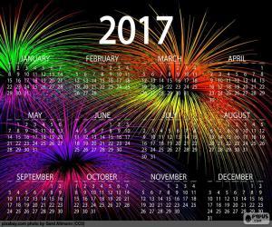 Puzzle de Calendario 2017, Feliz año