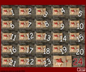 Puzzle de Calendario Adviento regalos