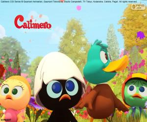 Puzzle de Calimero con sus amigos