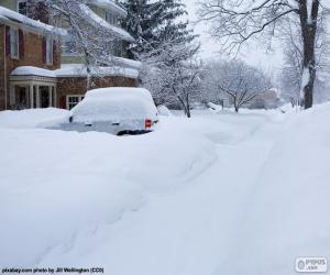 Puzzle de Calle completamente nevada