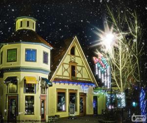 Puzzle de Calle con luces navideñas