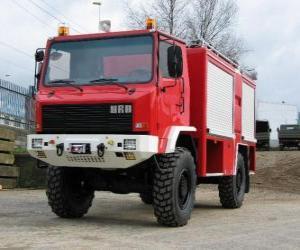 Puzzle de camión de bomberos todo terreno