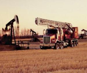 Puzzle de Camión en explotació petrolera