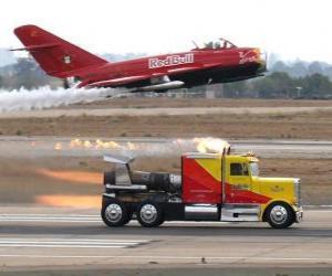 Puzzle de Camión vs avión