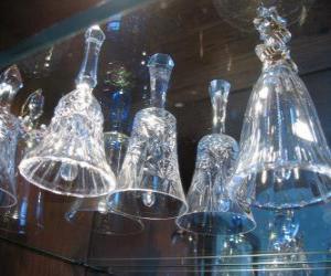 campanas navideas de cristal