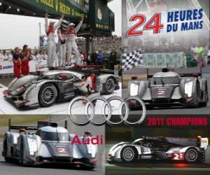 Puzzle de Campeones 24 horas de Le Mans 2011 Audi R18 TDI