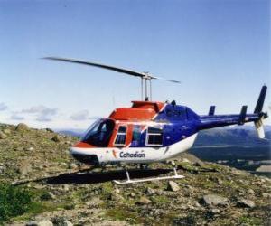 Puzzle de Canadian helicóptero Bell 206
