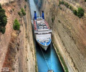 Puzzle de Canal de Corinto, Grecia
