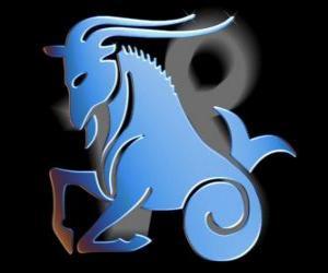 Puzzle de Capricornio. La cabra-pez. Décimo símbolo del zodíaco. El nombre en latín es Capricornus