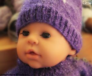 Puzzle de Cara de muñeca bebé