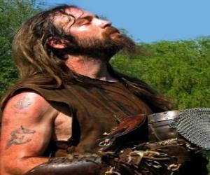 Puzzle de Cara de vikingo con bigote y barba