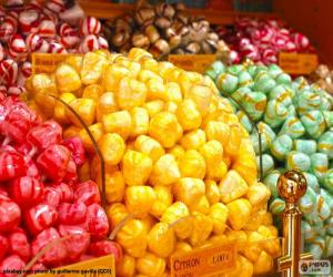 Puzzle de Caramelos y sus colores