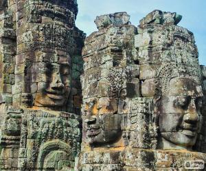 Puzzle de Caras de piedra, Angkor Wat
