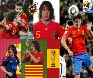 Puzzle de Carles Puyol (La cabeza de España) defensa Selección Española