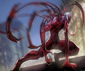 Puzzle de Carnage o Matanza es un supervillano simbionte, adversario de Spiderman y acérrimo enemigo de Venom