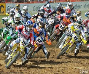 Puzzle de Carrera de Motocross