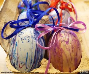 Puzzle de Cartón de huevos de Pascua