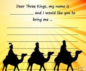 Puzzle de Carta a los Reyes Magos